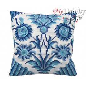 Cross Stitch Cushion Kit Chinese Porcelain, Article: 5 115 Collection D'Art - size 40x40 cm.