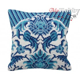 Cross Stitch Cushion Kit Chinese Porcelain, Article: 5 114 Collection D'Art - size 40x40 cm.