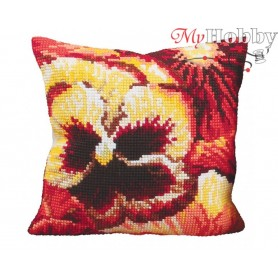 Cross Stitch Cushion Kit Fireside Warmth, Article: 5 095 Collection D'Art - size 40x40 cm.