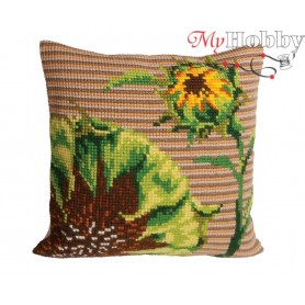 Cross Stitch Cushion Kit End of the Day, Article: 5 088 Collection D'Art - size 40x40 cm.