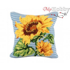 Cross Stitch Cushion Kit Bold & Beautiful, Article: 5 085 Collection D'Art - size 40x40 cm.