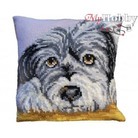 Cross Stitch Cushion Kit True-hearted, Article: 5 084 Collection D'Art - size 40x40 cm.