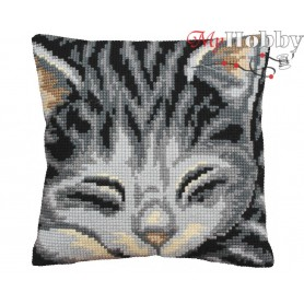 Cross Stitch Cushion Kit Jasmine, Article: 5 082 Collection D'Art - size 40x40 cm.