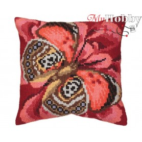 Cross Stitch Cushion Kit Elegant, Article: 5 078 Collection D'Art - size 40x40 cm.