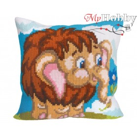 Cross Stitch Cushion Kit Harry, Article: 5 067 Collection D'Art - size 40x40 cm.