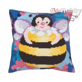 Cross Stitch Cushion Kit Humble Bee, Article: 5 035 Collection D'Art - size 40x40 cm.