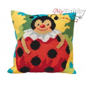 Cross Stitch Cushion Kit Lady Love, Article: 5 034 Collection D'Art - size 40x40 cm.