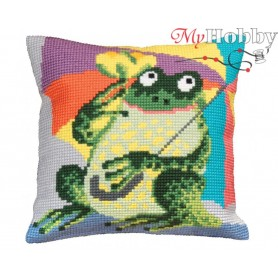 Cross Stitch Cushion Kit Mr. Personality, Article: 5 020 Collection D'Art - size 40x40 cm.