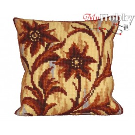 Cross Stitch Cushion Kit Deco Sillouete Middle, Article: 5 018 Collection D'Art - size 40x40 cm.