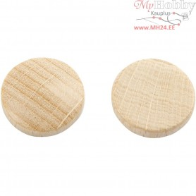 Wooden buttons, D: 12 mm, thickness 3 mm, china berry, 30pcs