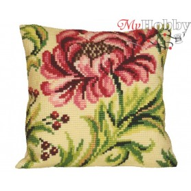 Cross Stitch Cushion Kit Elegant Rose Right, Article: 5 009 Collection D'Art - size 40x40 cm.