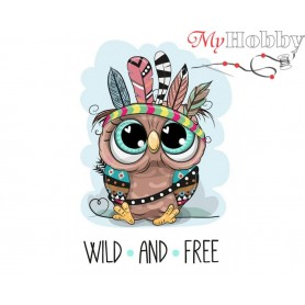 Diamond Embroidery Painting Kit Wild & Free, Article: DE7085 Collection D'Art - size 27x19 cm.