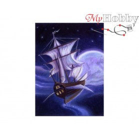 Diamond Embroidery Painting Kit Ghost ship, Article: DE7058 Collection D'Art - size 27x19 cm.