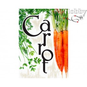 Diamond Embroidery Painting Kit Carrot, Article: DE7052 Collection D'Art - size 27x38 cm.