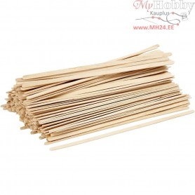 Ice Lolly Sticks, long, thin, L: 19 cm, W: 6 mm, birch, 200pcs