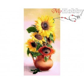 Diamond Embroidery Painting Kit Yellow bunch, Article: DE7040 Collection D'Art - size 70x38 cm.