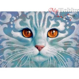 Diamond Embroidery Painting Kit Ghostlike cat, Article: DE7027 Collection D'Art - size 27x38 cm.