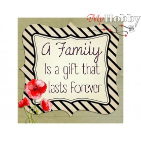 Diamond Embroidery Painting Kit Family forever, Article: DE7013 Collection D'Art - size 38x38 cm.