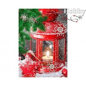 Diamond Embroidery Painting Kit Waiting for the holidays, Article: DE6008 Collection D'Art - size 27x38 cm.