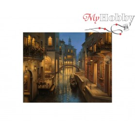 Diamond Embroidery Painting Kit Warm evening in Venice, Article: DE5863 Collection D'Art - size 48x38 cm.