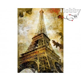 Diamond Embroidery Painting Kit Paris, Article: DE5860 Collection D'Art - size 27x38 cm.