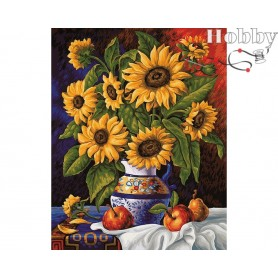 Teemanditikand (mosaiik) - Sunflowers` bunch - 48x38 cm. Collection D'Art -  DE4640