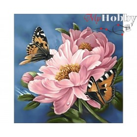 Diamond Embroidery Painting Kit Flower sap, Article: DE583 Collection D'Art - size 38x38 cm.