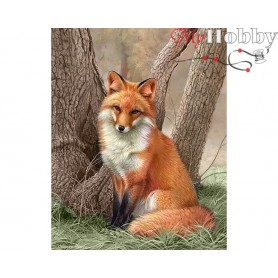 Teemanditikand (mosaiik) - Fox - 48x38 cm. Collection D'Art -  DE506