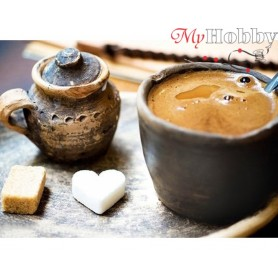 Diamond Embroidery Painting Kit Coffee for beloved, Article: DE224 Collection D'Art - size 27x38 cm.