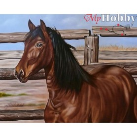 Diamond Embroidery Painting Kit Mustang, Article: DE075 Collection D'Art - size 48x38 cm.