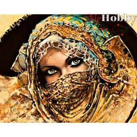 Diamond Embroidery Painting Kit Treasure of the Orient, Article: DE063 Collection D'Art - size 48x38 cm.