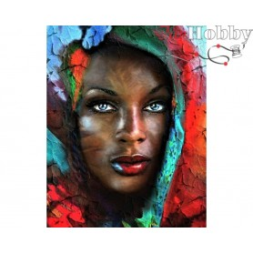 Diamond Embroidery Painting Kit Treasure of Africa, Article: DE062 Collection D'Art - size 48x38 cm.