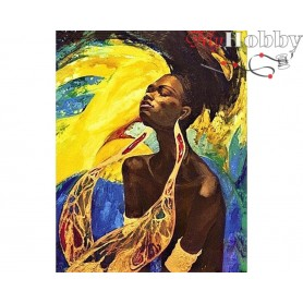 Diamond Embroidery Painting Kit Music of the sun, Article: DE060 Collection D'Art - size 48x38 cm.