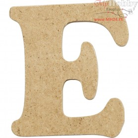 Letter, E, H: 4 cm, thickness 2,5 mm, MDF, 10pcs
