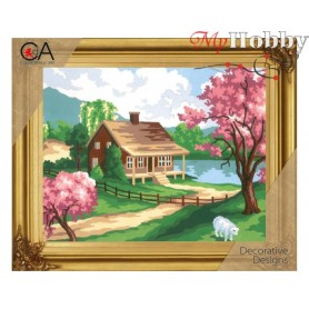 Cross Stitch Kit Stamped Full Range of Embroidery Kits   Collection D'Art - 6186K