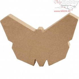 Paper Mache Animal, butterfly, H: 12,3 cm, thickness 25 mm, 1pc