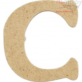 Letter, C, H: 4 cm, thickness 2,5 mm, MDF, 10pcs