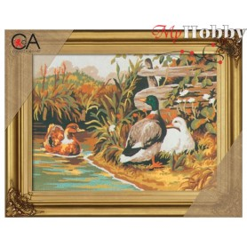 Cross Stitch Kit Stamped Full Range of Embroidery Kits 22x30 cm.  Collection D'Art - 6029K