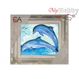 Cross Stitch Kit Stamped Full Range of Embroidery Kits 14x18 cm.  Collection D'Art - 3092K