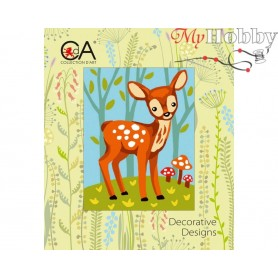 Cross Stitch Kit Stamped Full Range of Embroidery Kits 14x18 cm.  Collection D'Art - 3319K