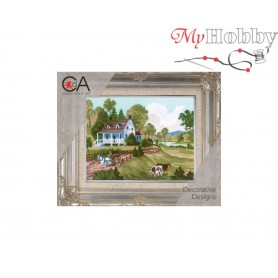Cross Stitch Kit Stamped Full Range of Embroidery Kits 14x18 cm.  Collection D'Art - 3209K