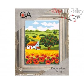 Cross Stitch Kit Stamped Full Range of Embroidery Kits 14x18 cm.  Collection D'Art - 3147K