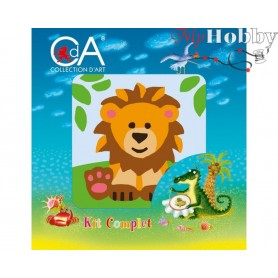 Cross Stitch Kit Stamped Full Range of Embroidery Kits 10x10 cm.  Collection D'Art - 1058K