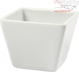Square bowl, size 6x6 cm, H: 5 cm, white, 12pcs