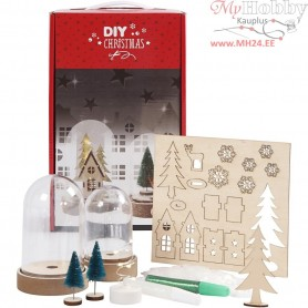 Kits for Bells with Inner Decorations, H: 10+12,5 cm, 2pcs