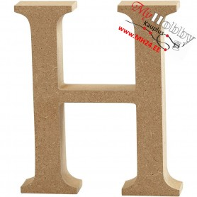 Letter, H, H: 13 cm, thickness 2 cm, MDF, 1pc