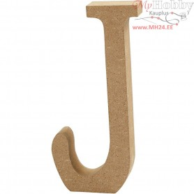 Letter, J, H: 13 cm, thickness 2 cm, MDF, 1pc