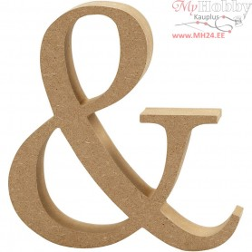 "Symbol,  ""&"", H: 13 cm, thickness 2 cm, MDF, 1pc"