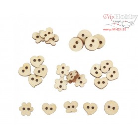 "Plywood form - decorative buttons ""Buratini"", Article: DZ40073"