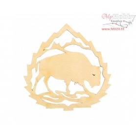 """Plywood form """"Buratini"""" - lace plate, Article: DZ70041"""